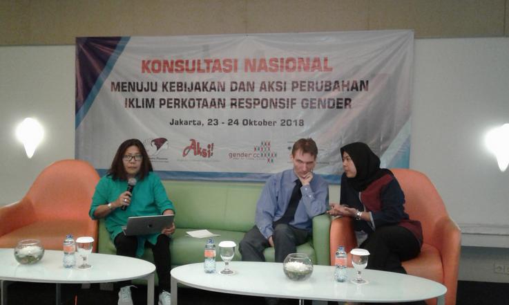 Konsultasi Nasional Kebijakan dan Aksi Perubahan Iklim Perkotaan Responsif Gender.