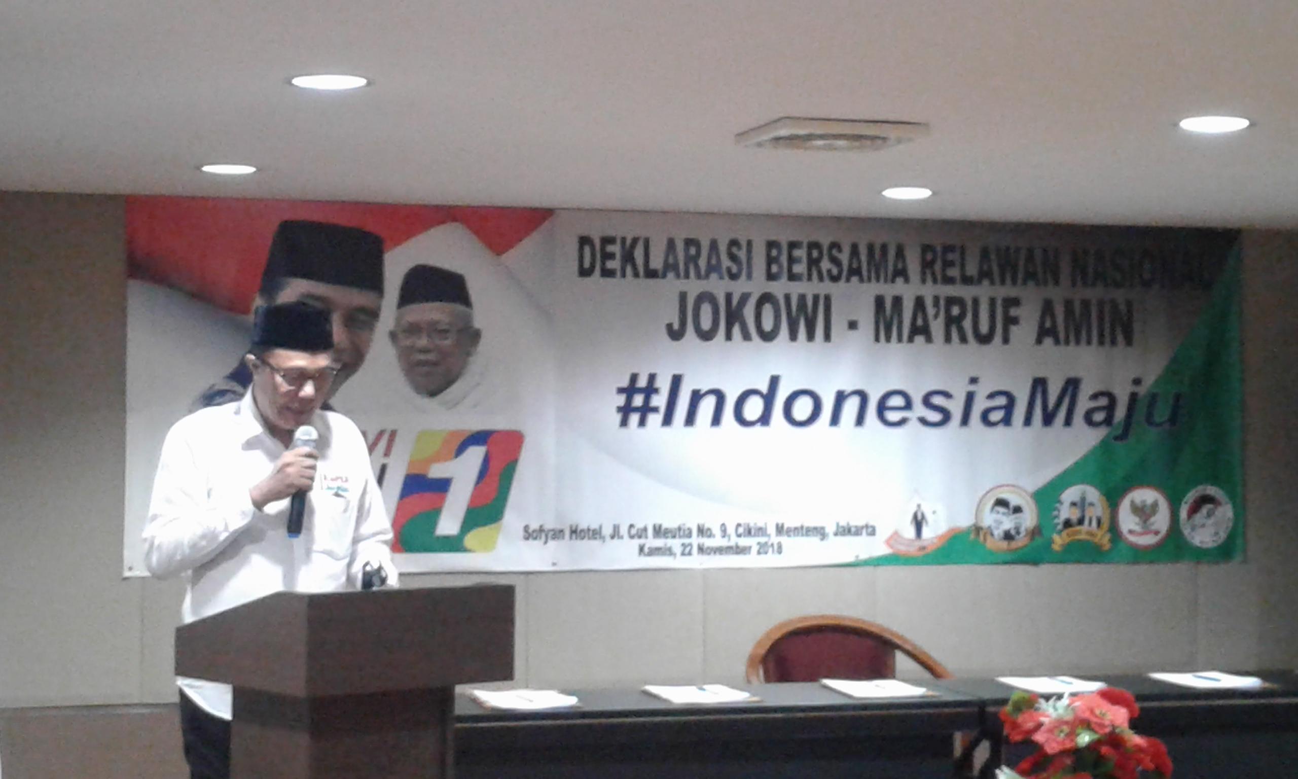 Gabungan Relawan Deklarasi Dukung Jokowi-Ma'ruf Amin
