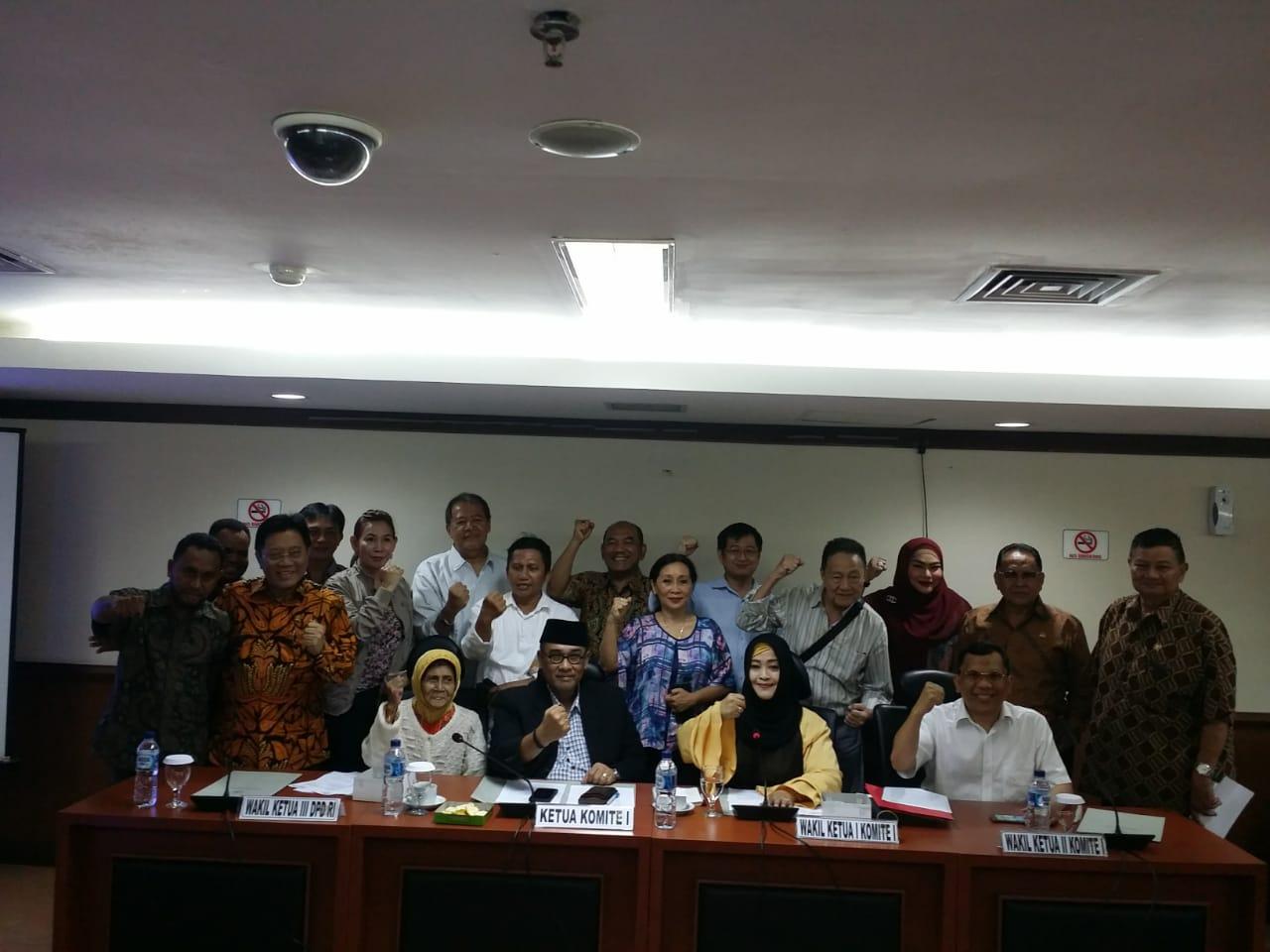 Forum Korban Mafia Tanah Indonesia (FKMTI) Mengadu ke DPD RI