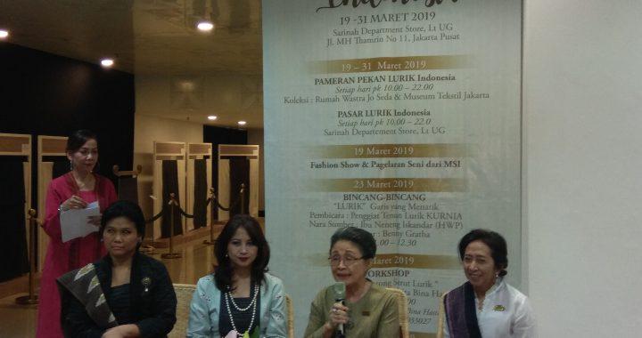 Sarinah Selenggarakan Pekan Lurik Indonesia Selama Dua Minggu