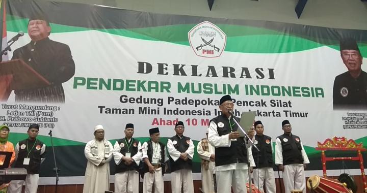 Pendekar Muslim Indonesia di Deklarasikan di Padepokan Taman Mini