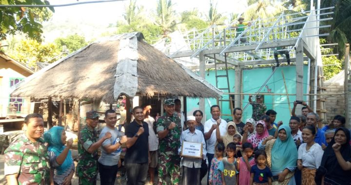 Peduli Korban Gempa Lombok, Itjenad Berikan  Bantuan Sembako di Teluk Nare