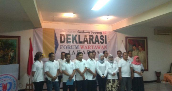 Forum Wartawan Jakarta  di Deklarasikan di Gedung Juang 45 Jakarta.