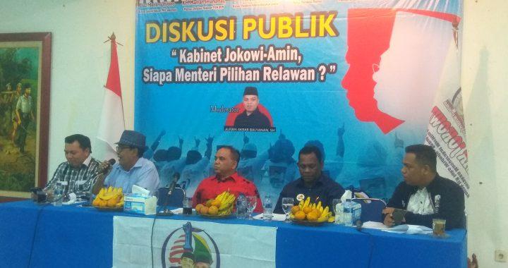 """Diskusi Publik """"Kabinet Jokowi-Amin, Siapa Menteri Pilihan Relawan"""""""