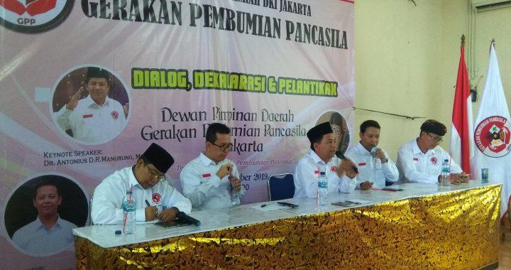 DPD Gerakan Pembumian Pancasila DKI Jakarta Resmi di Lantik