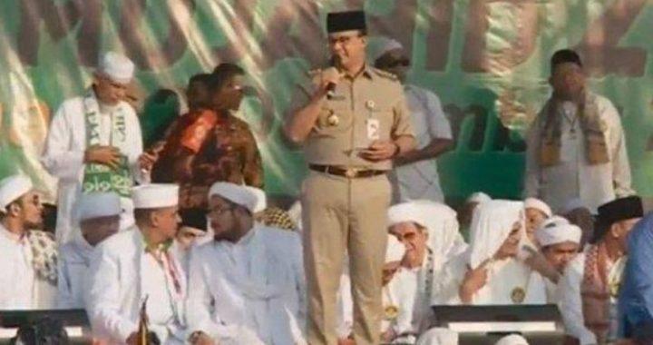 Gubernur DKI Jakarta Anies Baswedan Hadir di Reuni 212