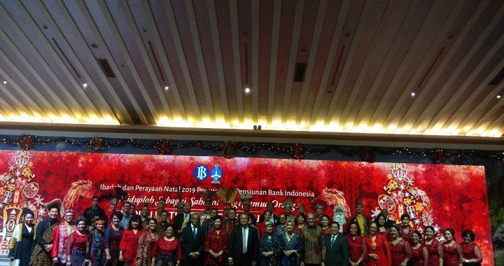 Keluarga Besar Bank Indonesia Rayakan Natal Bersama  Pegawai dan Pensiunan