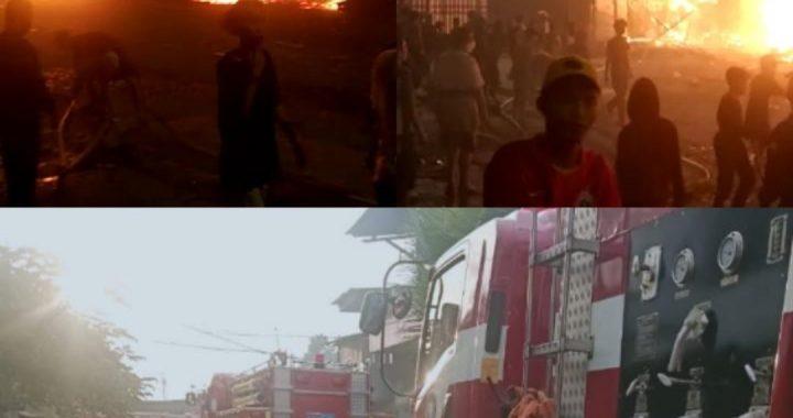 Kebakaran di Kalibaru Meludeskan Beberapa Rumah dan Gudang