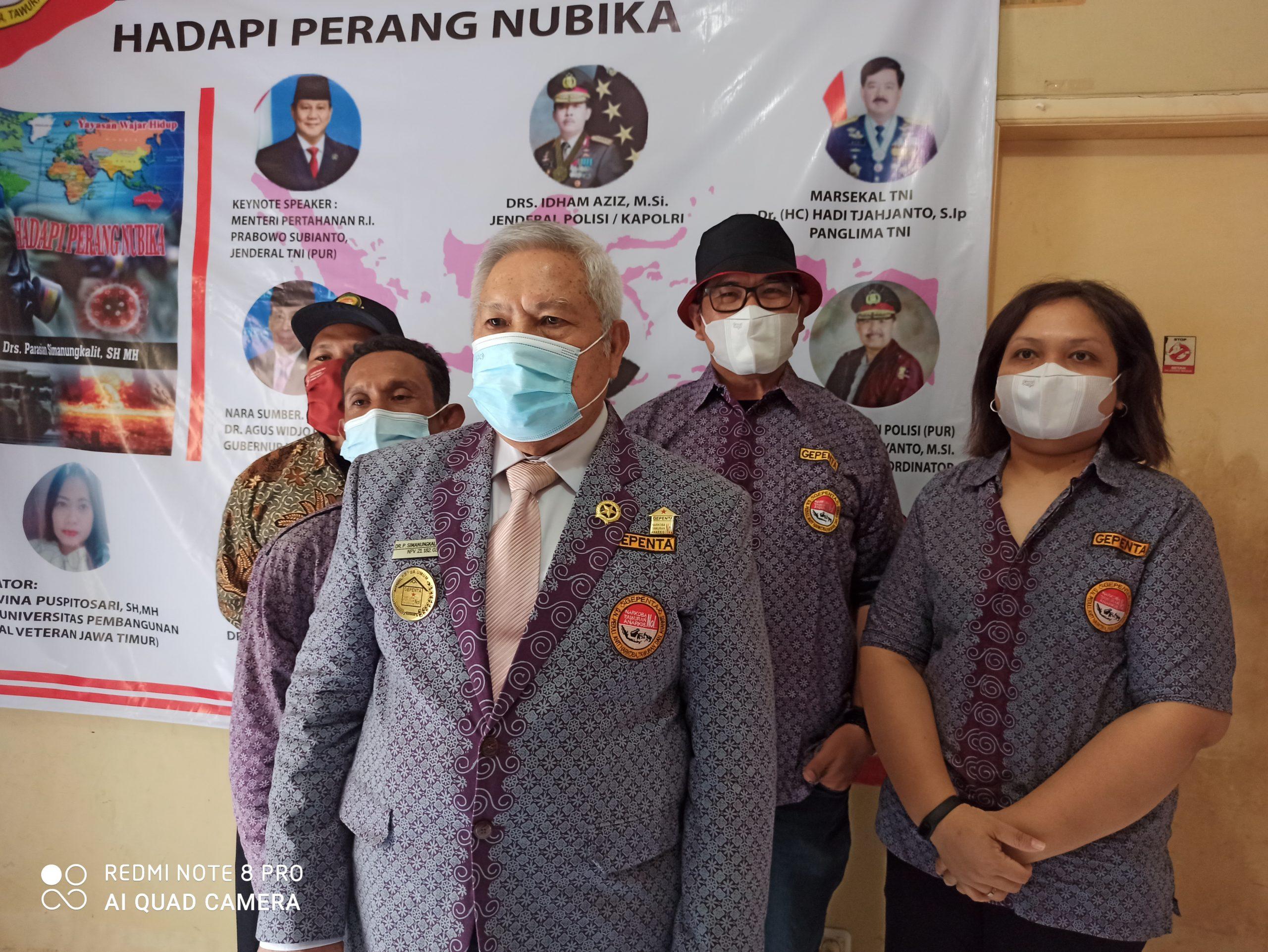 GEPENTA Gelar Doa Bersama Seluruh Umat Beragama di Indonesia Melalui Virtual